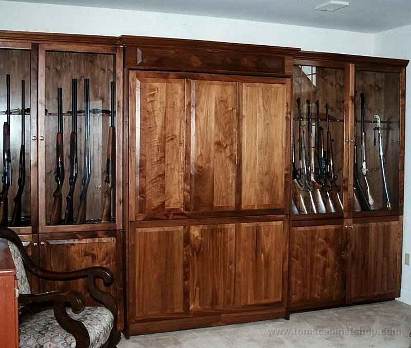 Custom wood designs customstorage1 murphybed gun cabinetmurphy bed teraionfo